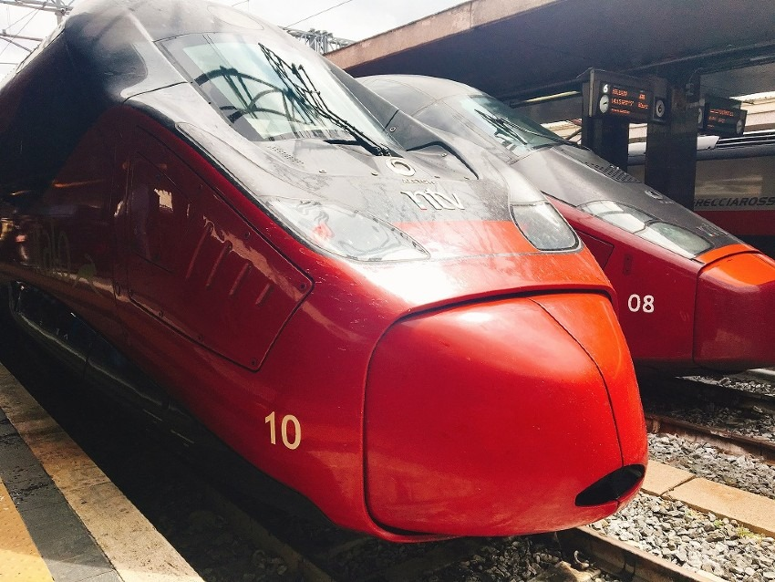 子供とイタロのローマ-フィレンツェ駅間に乗車!